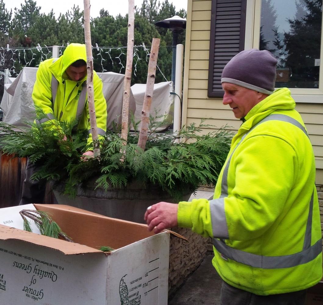 green thumb team making planter
