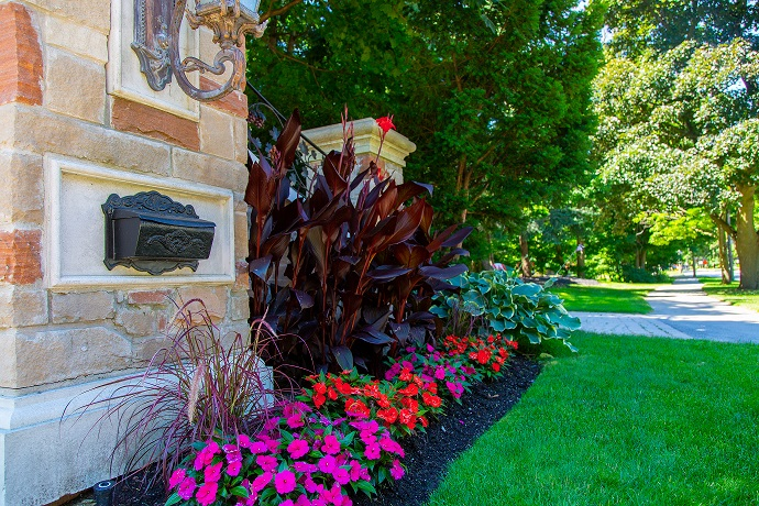 Fall Garden Renovating- gorgeous front of home with landscaping and plants