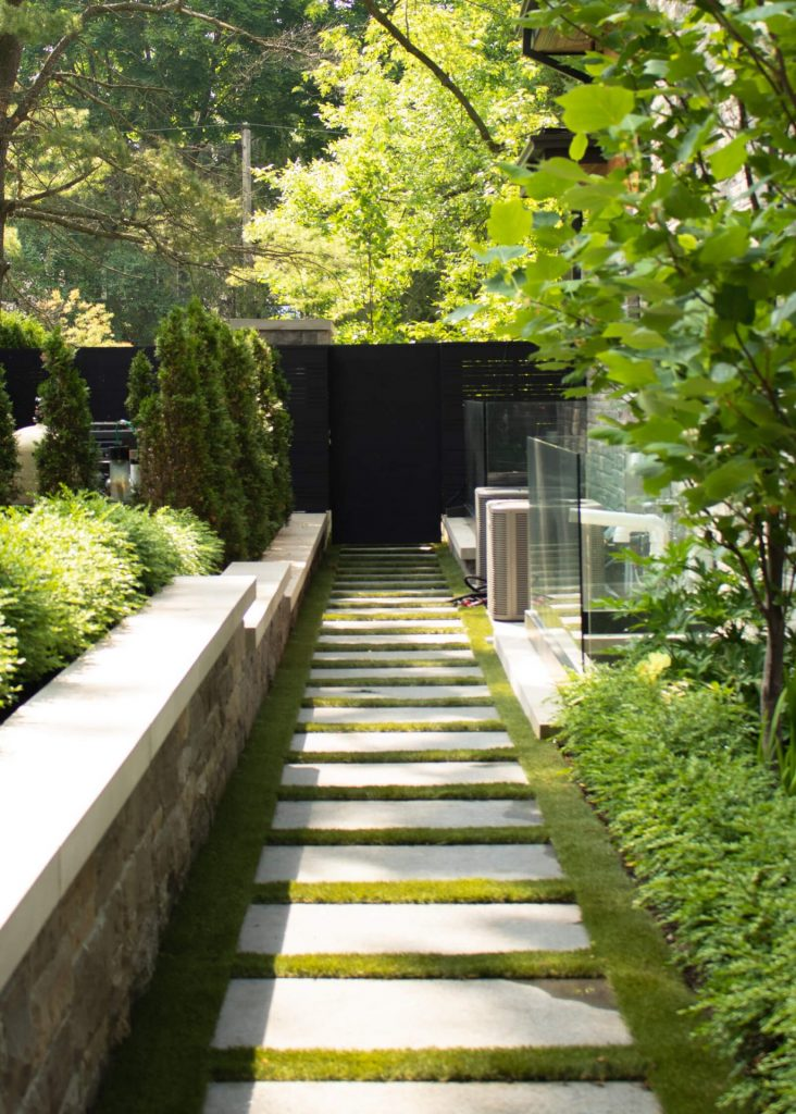 lovely stone walkway and foliage